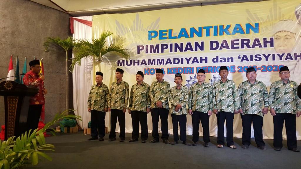 Sekretaris PWM Jatim, Ir Tamhid Masyhudi, melantikan Ketua dan Anggota Pimpinan Daerah Muhammadiyah (PDM) Kota Kediri 2015-2020
