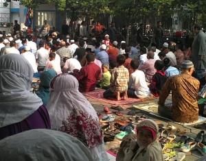 Pelaksanaan Salat Gerhana di Masjid An-Nur, Sidoarjo