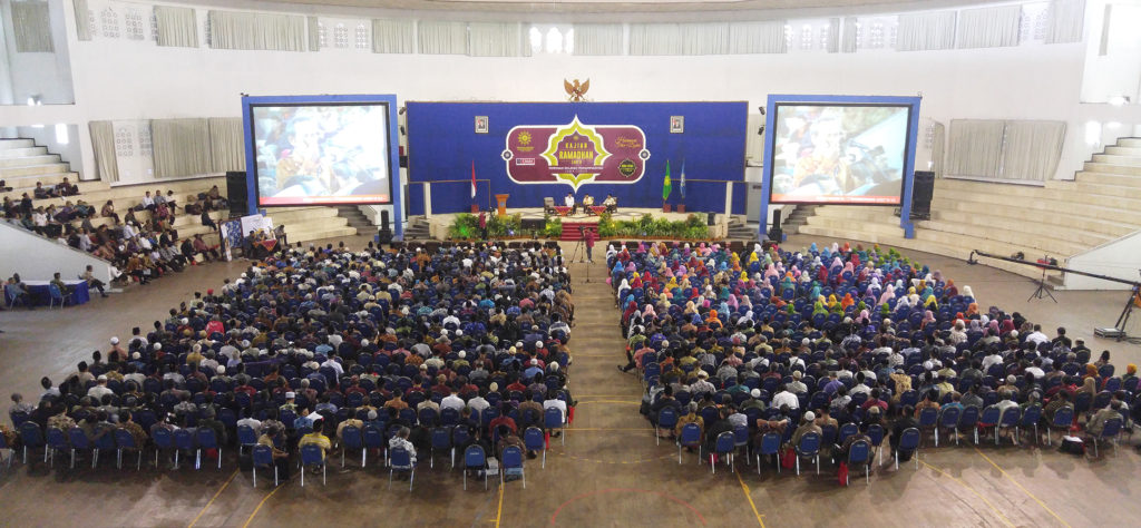 Suasana Kajian ramadhan 1437 PWM Jatim di Hal UMM Dome (foto Nurfatoni)