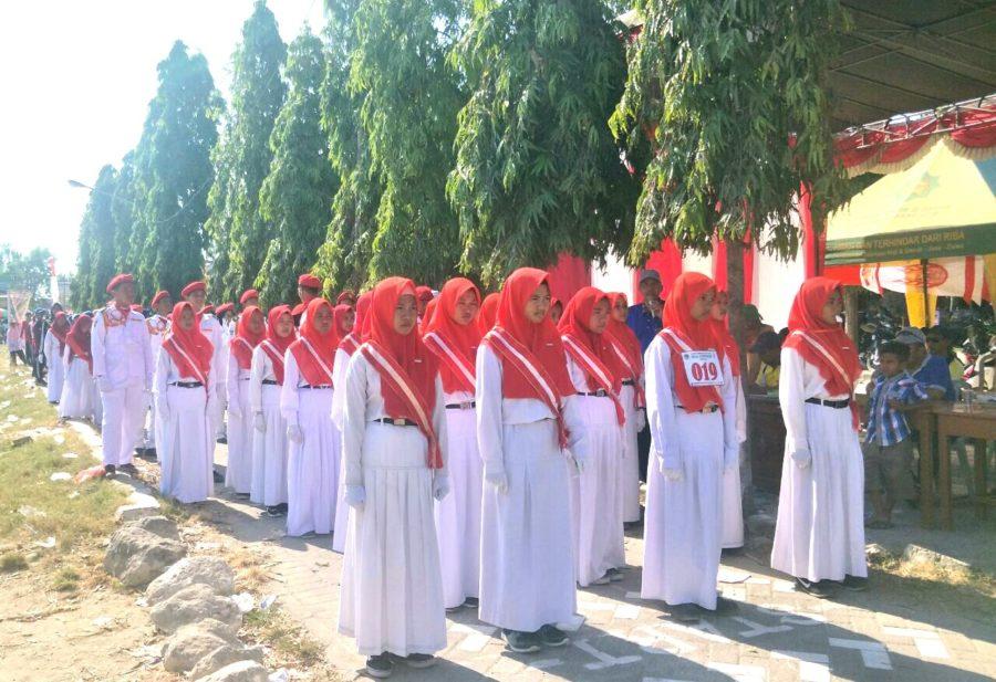 Saat Pasukan Merah Putih Hamas Meriahkan Gerak Jalan Di Campurejo Pwmu Co Portal Berkemajuan
