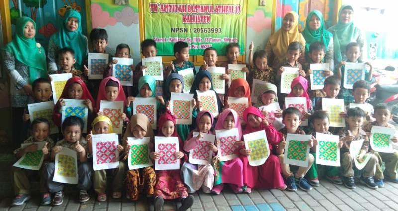 Mewarnai Batik Begini Cara Sekolah Ini Kenalkan Seni Budaya Pwmu Co Portal Berkemajuan