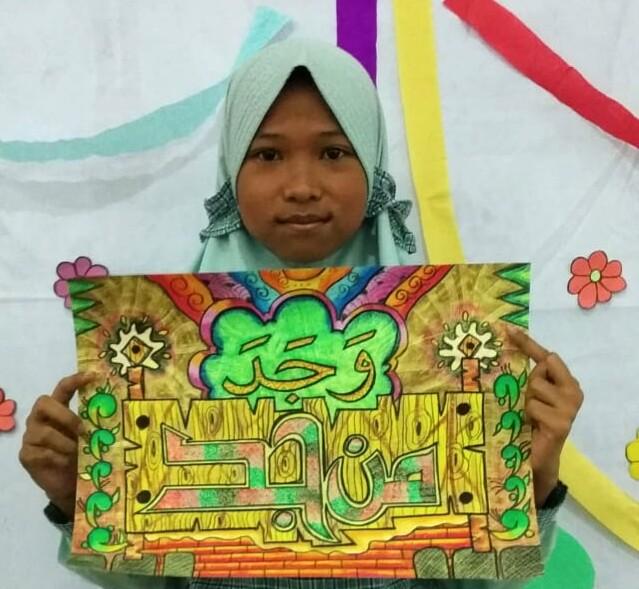 Dua Siswa SDMM Ini Naik Kelas Juara di Festival Nasional Cabang Kaligrafi