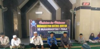 SD Muhammadiyah Panji Kabupaten Situbondo menggelar Munaqasah Tahfizh Quran di Masjid Al-Jihad Situbondo Sabtu-Ahad (25-26/1/2020).