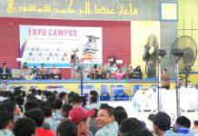 Pembukaan Campus Expo di aula Pesantren Karangasem dihadiri ribuan siswa. (Fathan Faris Saputro/PWMU.CO)