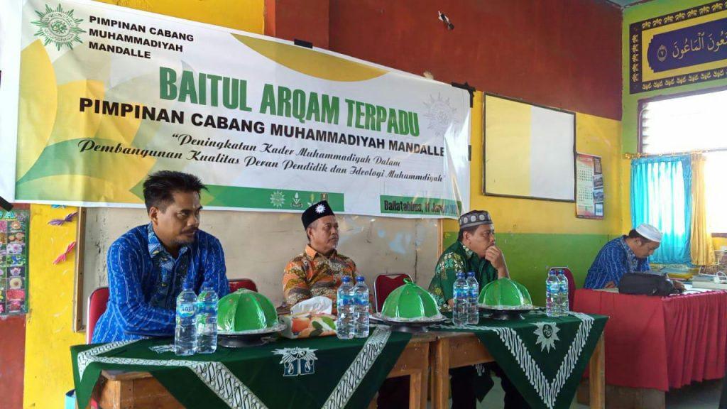 PCM Mandalle, Kacamatan Bajang Barat, Kabupaten Gowa, Sulawesi Selatan, menggelar Baitul Arqam Terpadu di MI Muhammadiyah Ballatabbua.