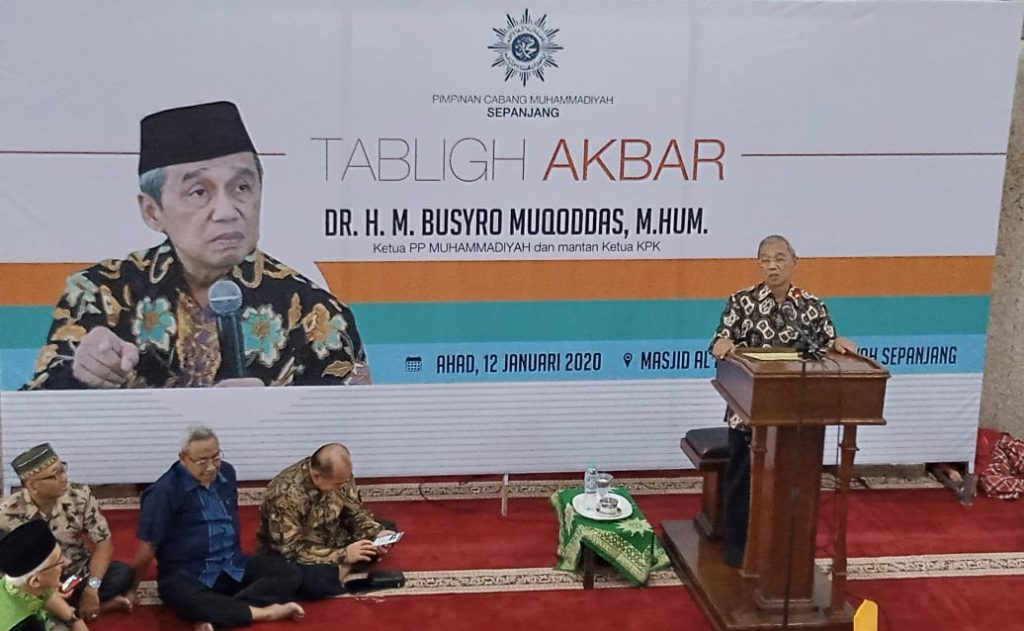 Busyro Muqoddas mengingatkan, pemimpin entah itu bupati, walikota, gubernur, presiden, atau DPR, yang terpilih karena politik uang adalah ahli neraka.