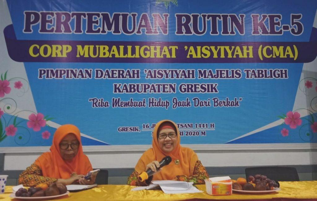 Islam Washatiyah yang dianut Muhammadiyah memiliki 8 kriteria. Seperti dijelaskan Ketua CMA Majelis Tabligh PDA Gresik Hj Nurfadlilah SPdi.