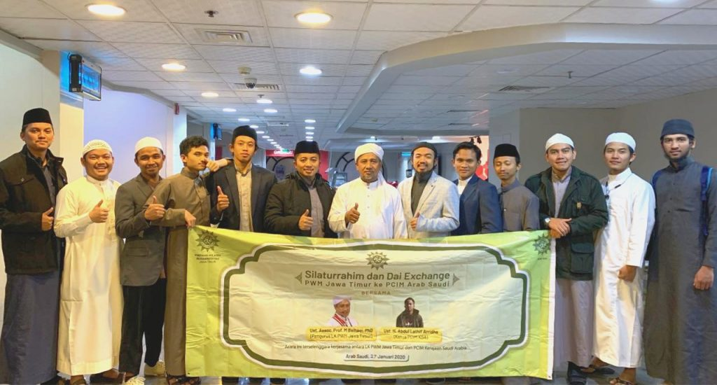 LK PWM Jatim menggelar Silaturahim dan Dai Exchange ke Pimpinan Cabang Istimewa Muhammadiyah (PCIM) Kerajaan Arab Saudi, di Madinah, Senin (27/1/20).