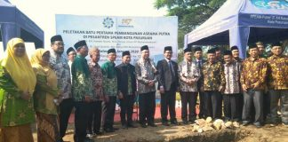 Haedar Nashir berpesan kepada para santri Pondok Pesantren SPEAM Kota Pasuruan agar menjadi kader Muhamamdiyah Ulul Albab.