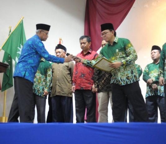 Acara pelantikan PCIM dan PCIA Malaysia oleh Ketua Umum PP Muhammadiyah Prof Haedar Nashir. (Agus/PWMU.CO)