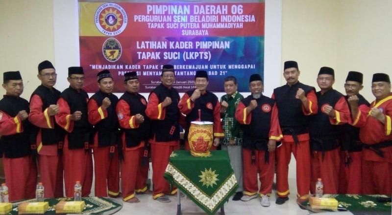 Pendekar Tapak Suci berkumpul dalam Pelatihan Kader dan Pendekar di Surabaya. (Al Frida/PWMU.CO)