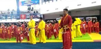 Pembukaan Invitasi Pencak Silat Tapak Suci Pelajar dan Mahasiswa di Graha Politeknik Negeri Malang. (Uzlifah/PWMU.CO)