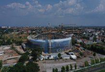 Pembangunan Edutorium Universitas Muhammadiyah Solo sudah mencapai 86 persen. Gedung ini tempat muktamar k4 48. (solopos)