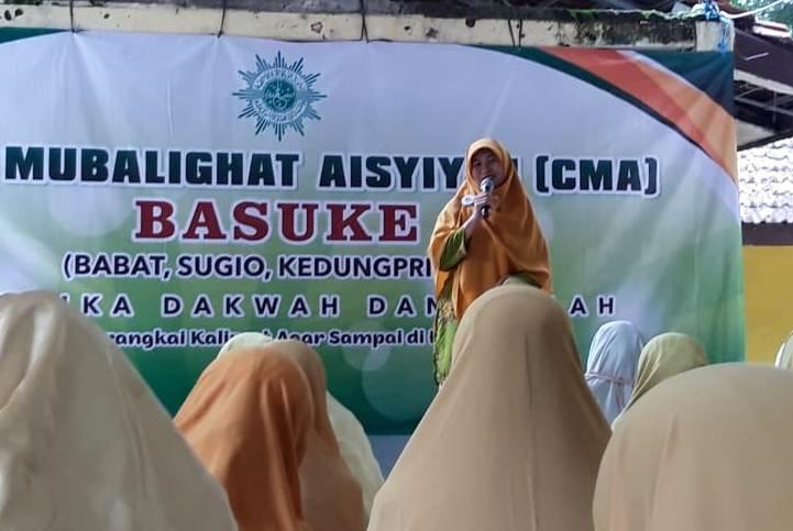Corp Mubalighat Aisyiyah mengadakan pelatihan dakwah di Sugio. (Hilman/PWMU.CO)