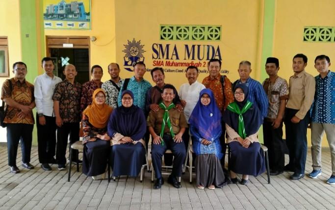 Foskam Bagian Barat mengadakan pertemuan di Perpustakaan SMA Muhammadiyah 2 Ngawi, Kedunggudel, Kecamatan Widodaren, Kabupaten Ngawi, Jumat (21/2/2020).