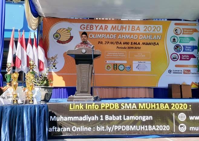 Ketua PDM Lamongan Shodikin menjelaskan pembangunan generasi Islam yang kuat. Jangan tinggalkan generasi lemah. (Hilman/PWMU.CO)