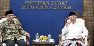 Kenangan Haedar Nashir bersama Gus Sholah ketika bertemu di Kantor Pimpinan Pusat Muhammadiyah di Jakarta. Membangun moderasi Islam. (Dok PPM)