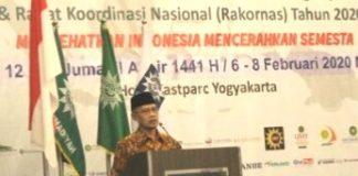 Lima pesan Haedar Nashir disampaikan di Rakornas Majelis Pembina Kesehatan Umum (MPKU) di di Hotes Eastparc, Yogyakarta, Jumat (7/2/2020).