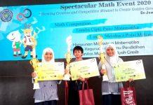 Siswa Spemdalas raih juara I dalam ajang Spectacular Math Competition 2020 di UMG, Ahad (16/2/20). Prestasi ini sangat membanggakan.
