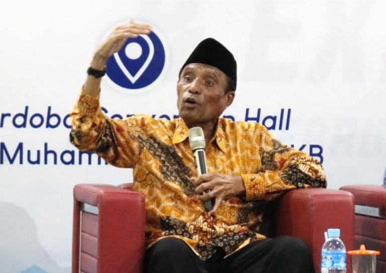 Prof Thohir Luth soal tiga syarat jadi pejuang Muhammadiyah yang disampaikan di acara Penguatan Ideologi Muhammadiyah di Mugeb School.