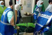 Surveyor bikin kejutan, begini respon tim Code Blue RSMG (Rumah Sakit Muhammadyah Gresik) dalam menangani karyawan yang tiba-tiba jatuh tak sadar diri.