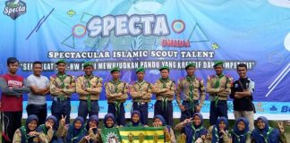 Kontingen SMKM 6 Modo juara III Specta di Umsida. (Rahmadtika/PWMU.CO)