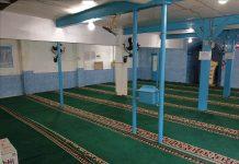 Masjid Sholeh bagian dalam di Kaliasin Gang VIII dikelola PRM Kedungdoro. (Teguh/PWMU.CO)