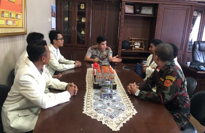 Pemuda Muhammadiyah dan Polres Kabupaten Pasuruan siap jogo Pasuruan. Itu salah satu hasil audensi PDPM Kabupaten Pasuruan dengan Polres setempat.