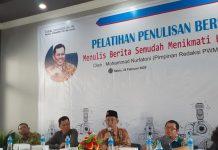 Marketer berita dilahirkan di Sekolah Muhammadiyah GKB melalui Pelatihan Jurnalistik, Sabtu (2/2/20).