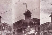 Peristiwa perobek bendera di Hotel Yamato pada 19 September 1945.