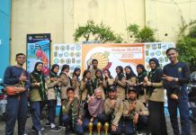 Qabilah SMP Mutu Malang mengikuti Olimpiade Soedirman di SMA Muhiba. (Hilman/PWMU.CO)