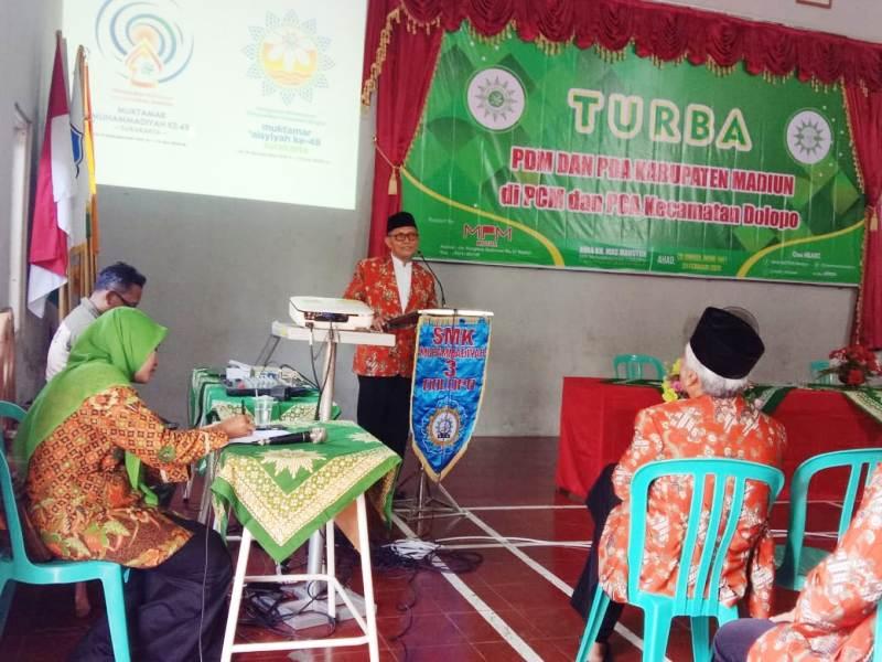 PDM Kabupaten Madiun turba ke PCM Dolopo memperkuat jamaah Muhammadiyah. (Supriyono/PWMU.CO)