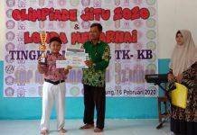 SMPM Keduyung Laren mengadakan OJI (Olimpiade Jitu) tingkat SD/MI dan lomba mewarna tingkat KB dan TK se-Laren, Ahad (16/2/20).