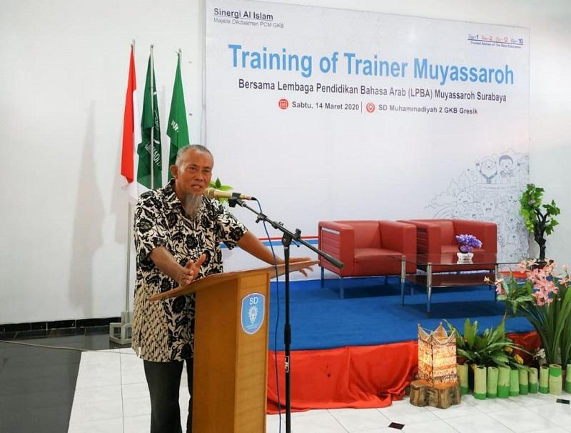Guru Muhammadiyah GKB mengadakan Training of Trainer (TOT) bersama Lembaga Pendidikan Bahasa Arab (LPBA) Muyassaroh Surabaya, Sabtu (14/3/20).
