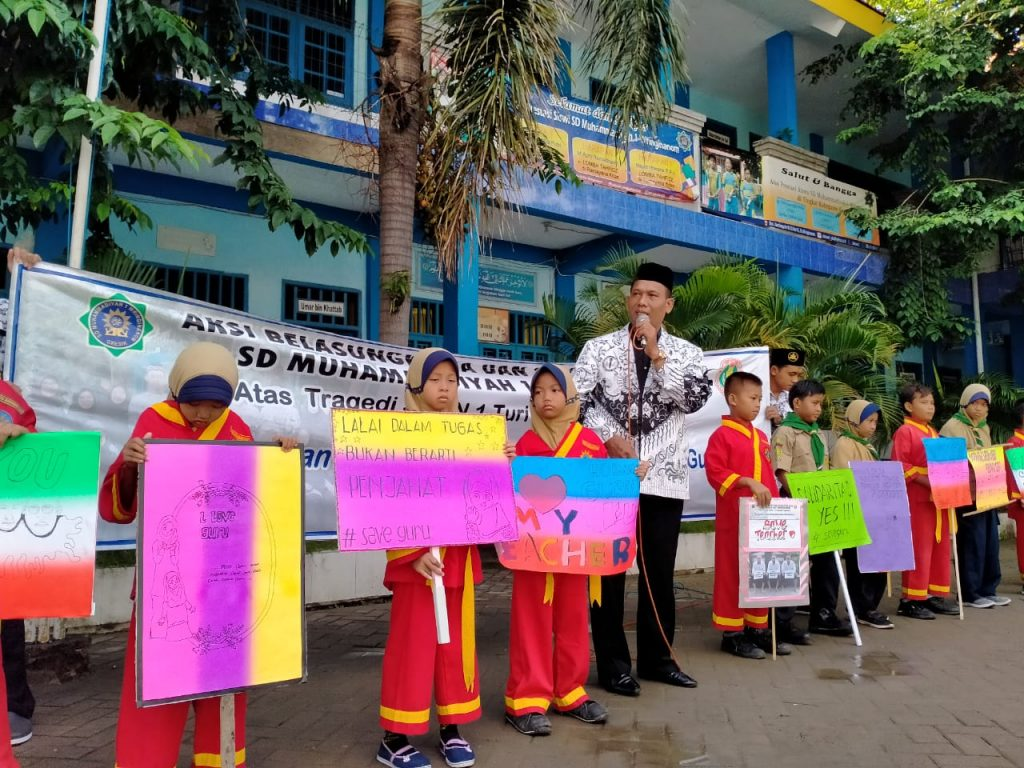 PGRI apresiasi solidaritas SD Muwri atas tragedi susur sungai SMP Negeri 1 SlemanYogyakarta. Apresiasi tersebut disampaikan langsung Ketua Persatuan Guru Republik Indonesia (PGRI) Cabang Wringinanom Suroso Spd MM, Jumat (28/02/20).
