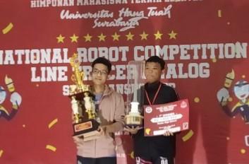 SMA Muhiba meraih juara 1 Robotik kategori Line Tracer Analog Semi Transporter pada ajang Hang Tuah Robo Cup IX 2020, Kamis (5/3/2020).