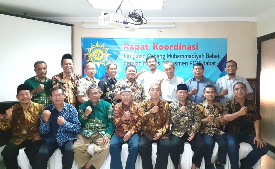 Rakor PCM Babat di WBL. Rapat koordinasi dengan Majelis Dikdasmen PCM Babat itu dihadiri 18 orang pada Ahad (29/2-1/3/20).