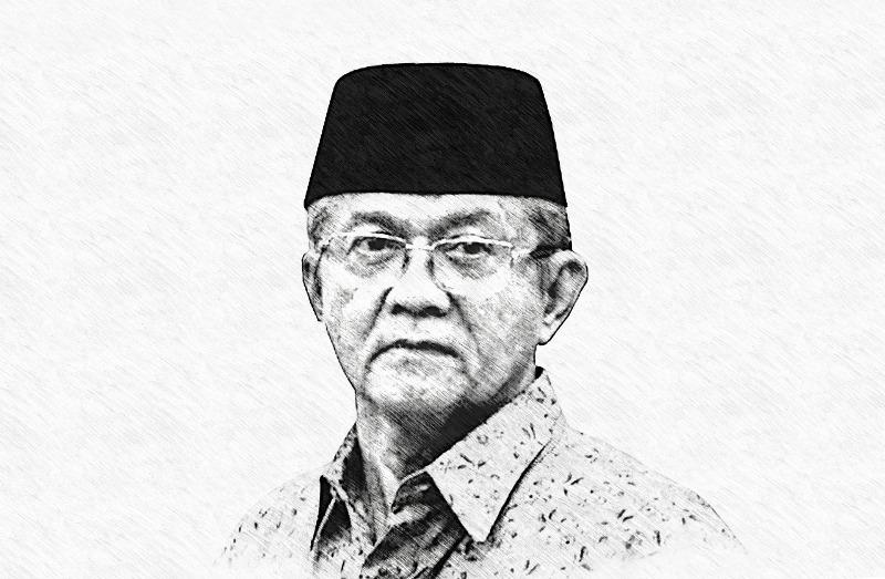 Anwar Abbas. Tanda krisis sudah tampak. (Sketsa PWMU.CO)