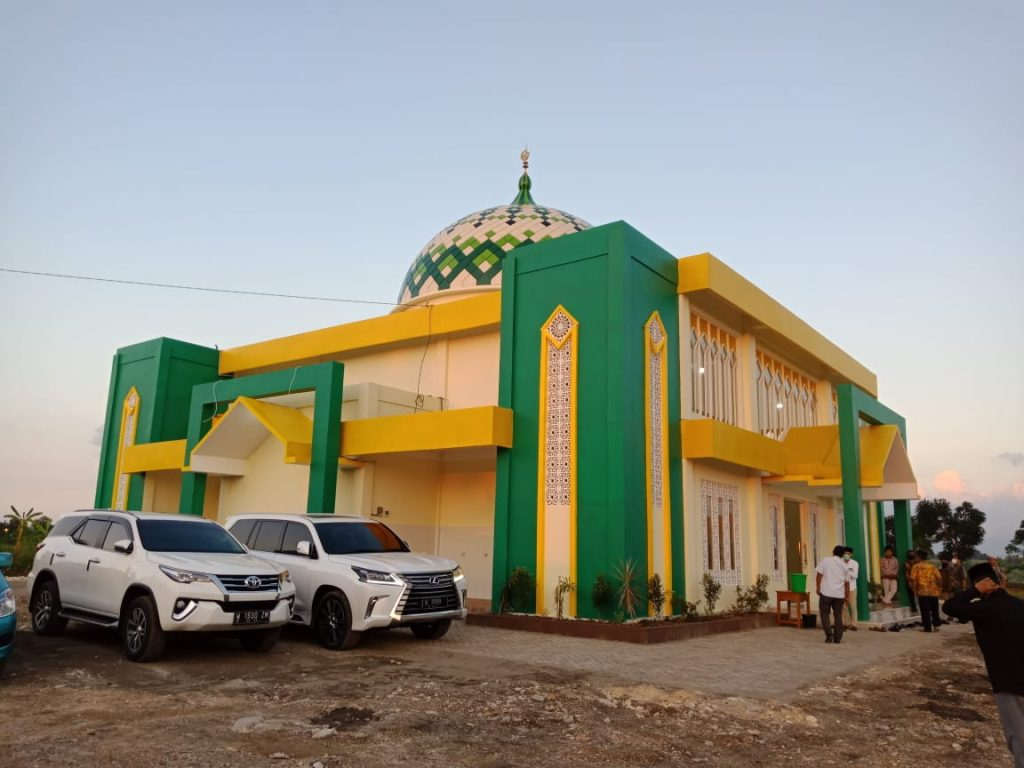 Masjid Djariah Mulia dikawafkan Djariah Foundation PT Polowidjo Gosari untuk Pimpinan Daerah Muhammadiyah Gresik. Penyerahan wakaf dilakukan Selasa (21/4/2020)