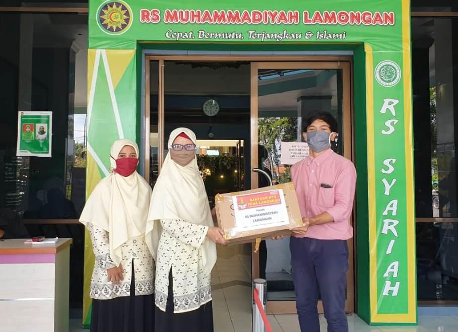 PDNA Lamongan menyumbang APD, hazmat, kacamata bening, pelindung muka dan masker ke 10 Klinik Muhammadiyah, 1 Klinik 'Aisyiyah dan 3 RS Muhammadiyah Lamongan.