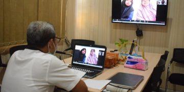 Wawancara PPDB online SMA Muhammadiyah 1 (Smamsatu) Gresik dilakukan di tengah pandemi Covid-19, Selasa (14/4/20).