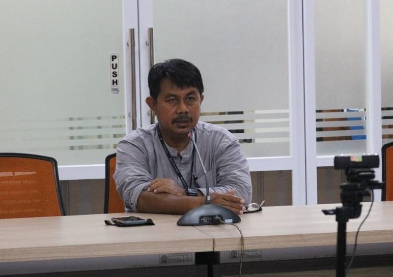 Halal bihalal guru SMP Muhammadiyah 12 GKB (Spemdalas) Gresik dilaksanakan secara online di tengah pandemi Covid-19, Selasa (26/5/20).