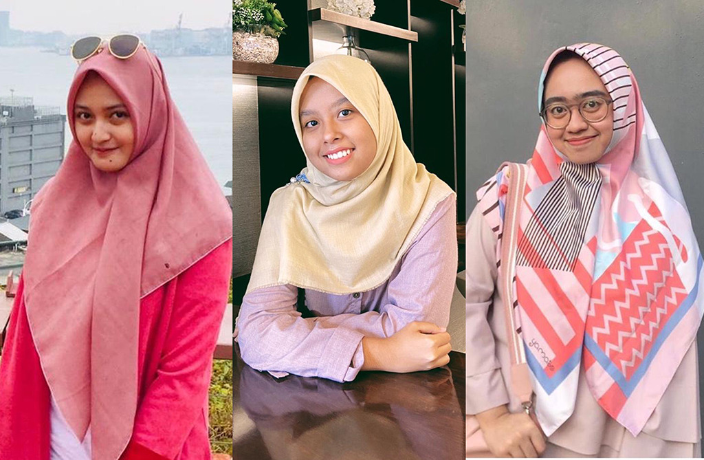 Trio Mahasiswa Universitas Muhammadiyah Surabaya (Alshafiera Azayyana M S, Insira Yumna K, dan Aisyah Faadhilah) mendirikan Komunitas Imbang Diri untuk mengatasi permasalahan dan stigma kesehatan mental di masyarakat. (Alshafiera/PWMU.CO)
