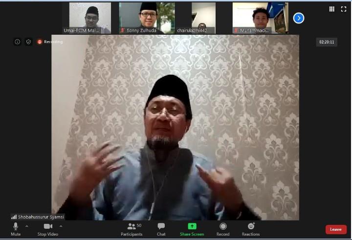Jaga 10 fitrah manusia pasca Ramadhan dikupas dalam Kajian Syawal Pimpinan Cabang Istimewa Muhammadiyah (PCIM) Malaysia, Jumat (29/5/2020).