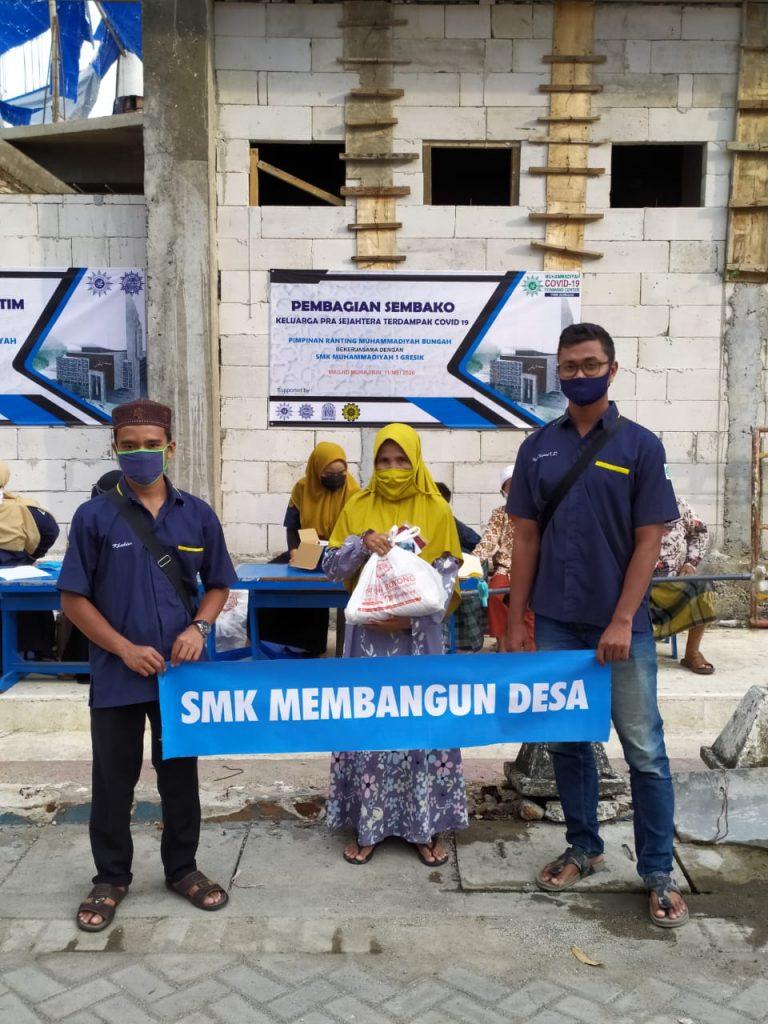 Yatim dan dhuafa disantuni Muhammadiyah Covid-19 Command Centre (MCCC) Gresik bersama Pimpinan Ranting Muhammadiyah (PRM) Bungah.