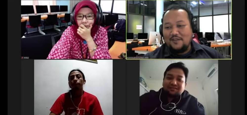 Kisah Jamal rebut 'ruang gelap' di Aceh terjadi dalam sharing session seminar online (webinar) Prodi Komunikasi UMM, Rabu (6/5/20).