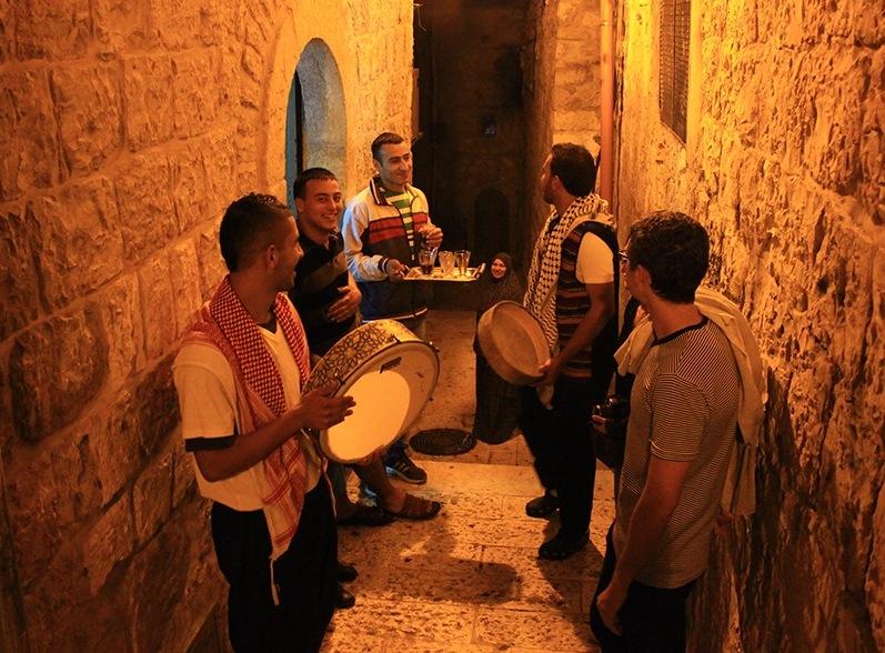 Musik patrol mesaharati di Kairo.