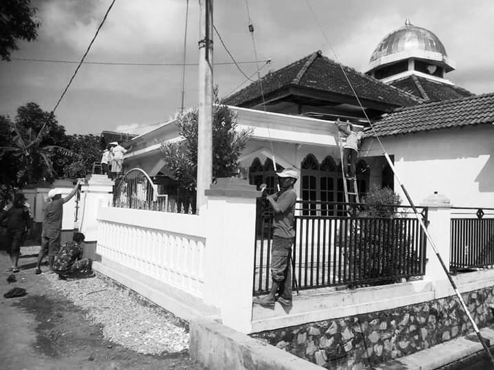 Masjid tempat H Romali khutbah Jumat sehingga celurit PKI dikalungkan ke lehernya. (dokumen keluarga)