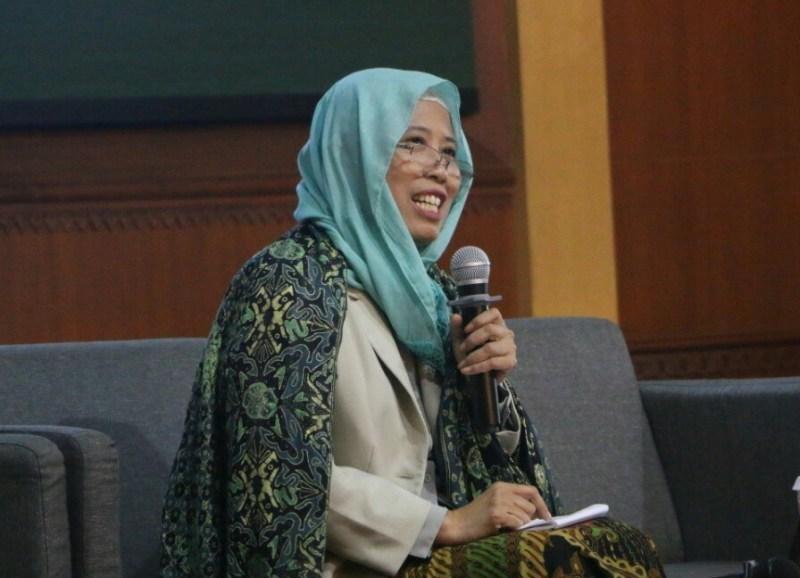 Chusnul Mariyah. Merebut tafsir Pancasila lewat RUU HIP. (foto dokumentasi pwmu.co)