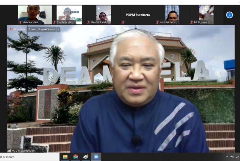 Din Syamsuddin bicara pemimpin kosmetik. (Hendri HW/PWMU.CO)
